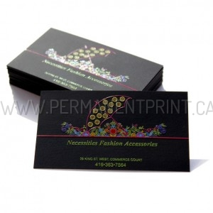 Full Color Raised Printing Business Cards