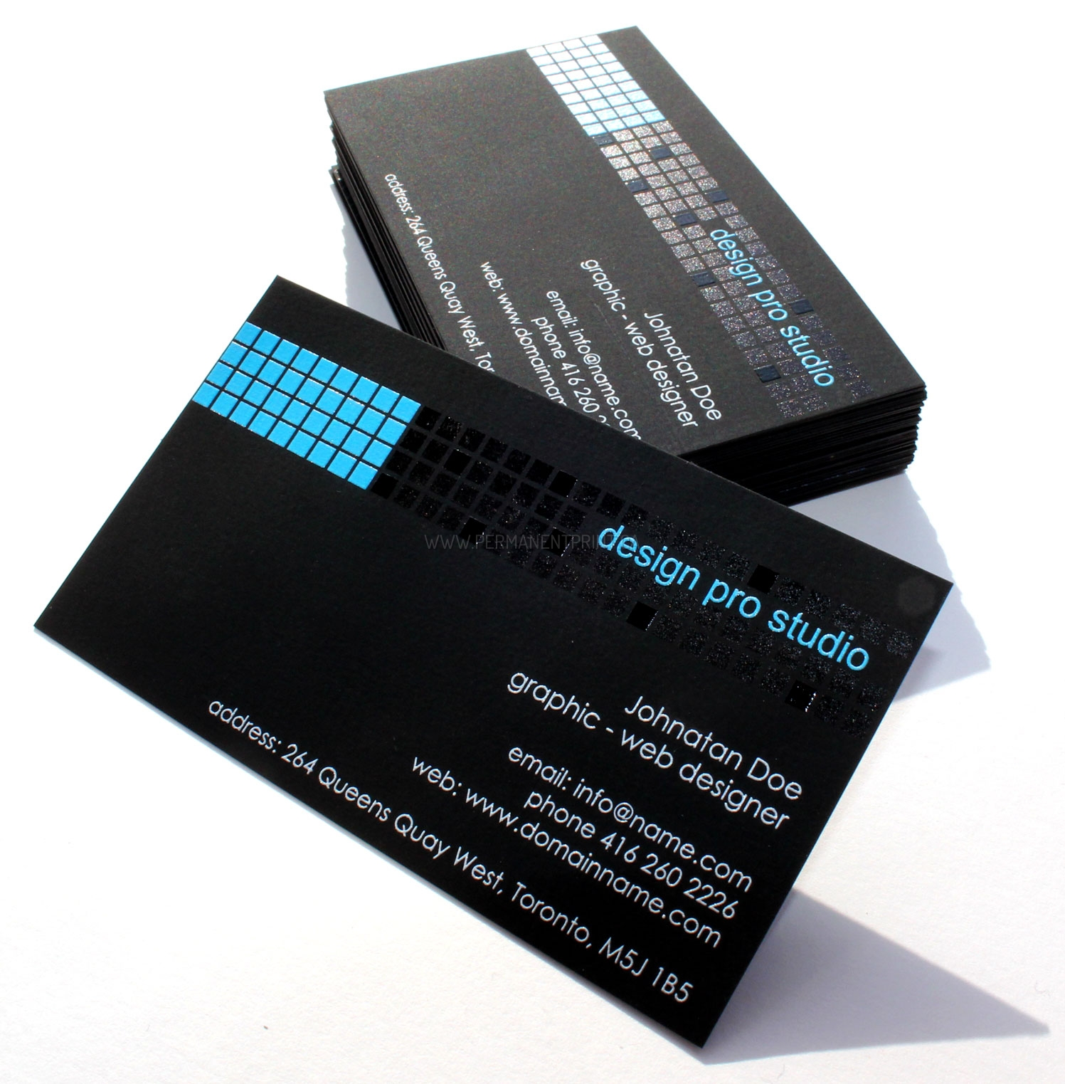 BLACK BUSINESS CARD CONCEPT - PERMANENT PRINT