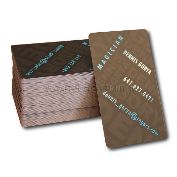creative business card for magician permanent print