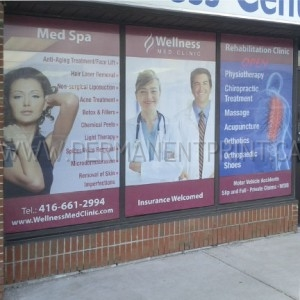 Perforated Vinyl Window Signs