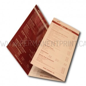 Toronto Brochures Printing, Price List Brochure