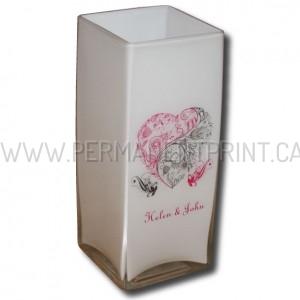 Printing on glass flower vases