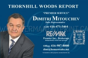 Toronto Postcards Printing, Real Estate Agent Postcard