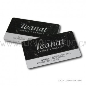 Plastic Coated Business Cards