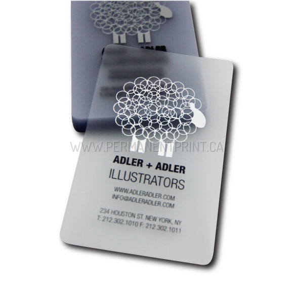 Frosted business cards permanent print frosted business cards frosted plastic business cards reheart Choice Image