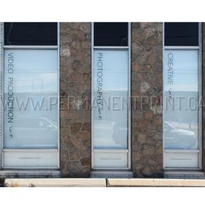 Custom Solid Black Window Decals