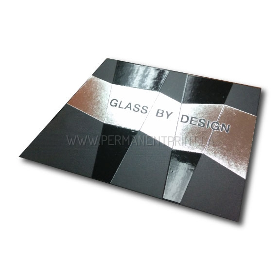 FOIL STAMP AND SPOT GLOSS BUSINESS CARDS PERMANENT PRINT