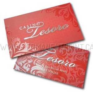 Spot Gloss and Foil Stamp Business Cards