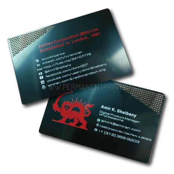 Metal business cards toronto permanent print metal business cards printed metal business cards reheart Choice Image